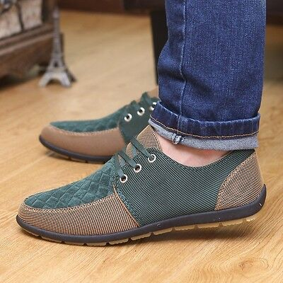 men's canvas shoes breathable casual shoes fashion lace up sneakers Loafers