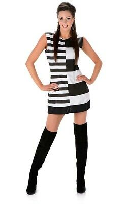 a9b963732d0 Monochrome Mod Girl 1960S 1970S Disco Adult Womens Fancy Dress Costume