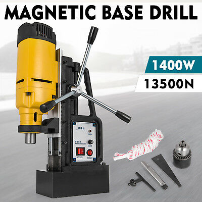 Magnetic Drill 1500W Commercial W/ Traditional Chuck Industrial Builder Drilling