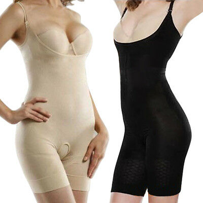 Women Full Body Shaper Underbust Tummy Control Slimming Bodysuit Shapewear