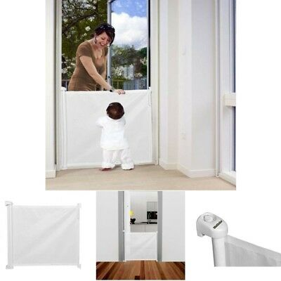 Child Safety Gate Extending Stair Door Safe Baby Toddler Dog Pet White Guard Fit