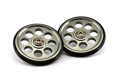 Ti Parts Workshop 88mm Aluminum Eazy Wheels for Brompton Bicycle easy pulling
