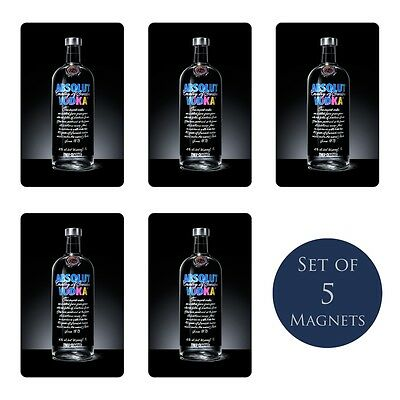 Absolut Vodka Warhol Edition Fridge Magnets Set of 5 NEW Imported Ad Limited