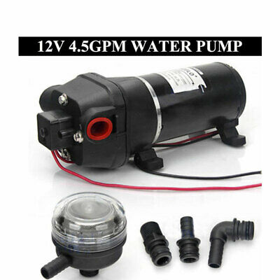 AU SHIP 12V Water Pump 40PSI 17L/min 4.5GPM Boat Caravan Camping High Quality