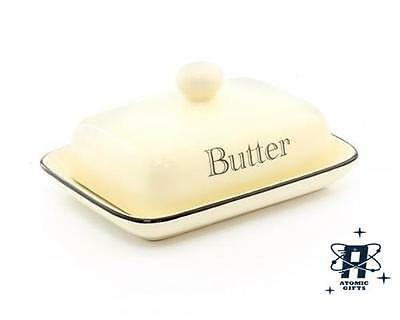 Vintage Retro Styled Cream Kitchen Butter Dish New In Box