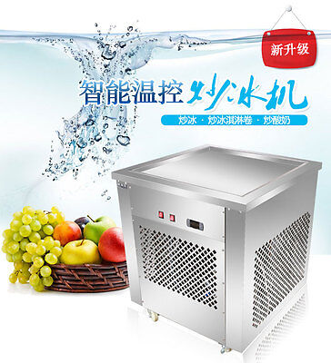Commercial Stainless steel Single big Square pan fried ice cream making machine