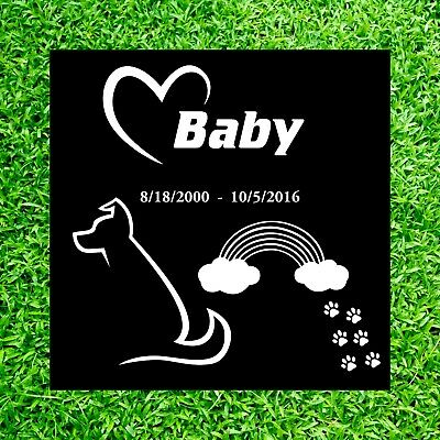 Custom Personalized Pet Headstone tombstone Laser Engraved on the Grave Marker