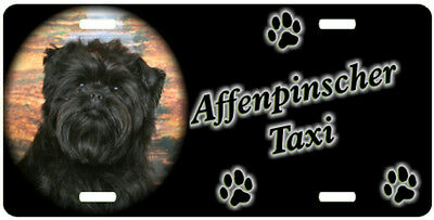 Affenpinscher Taxi Line License Plate  (( SPECIAL LOW CLEARANCE PRICE ))