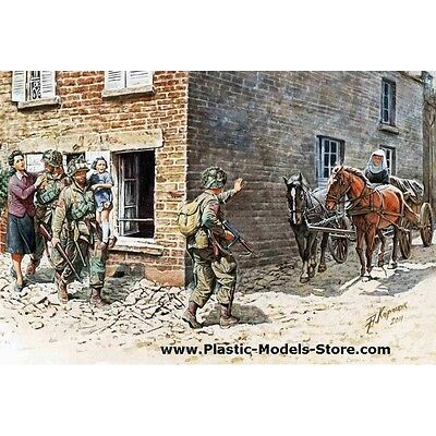 France 1944 Us Paratroopers & Civilians Wwii 1/35 Master Box 3578