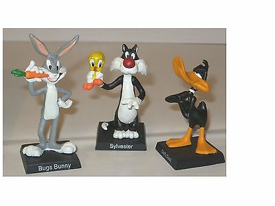 3 Looney Tunes Figures New Year's Eve Daffy Duck Bugs Bunny Hobby Work New