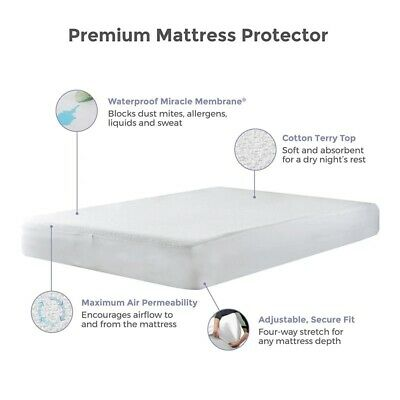 NEW WATERPROOF FITTED MATTRESS PROTECTOR - TERRY TOWEL Bed sheet in all sizes