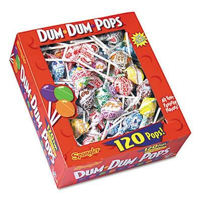 Spangler 66 Dum-Dum-Pops, Assorted Flavors, Individually Wrapped, 120-Count Box