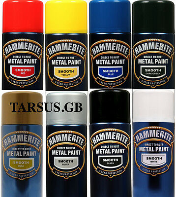 HAMMERITE DIRECT TO RUST HAMMERED, SATIN & SMOOTH AEROSOL SPRAY 400ml TRACKED!!