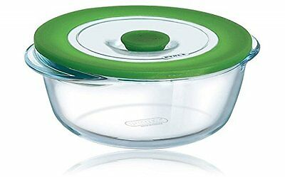 Pyrex 4936411 Dish 4 in 1 Plus 1 Litre with Steaming Lid Round