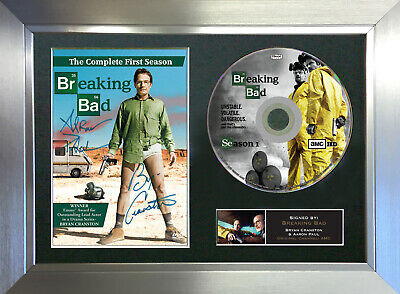 BREAKING BAD DVD Reproduction Signed Autograph DVD & Cover Mounted Print A4 67