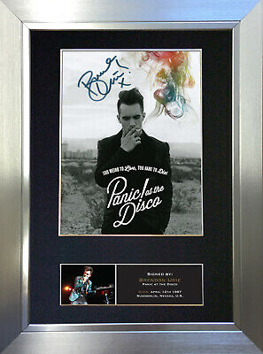 BRENDON URIE  Signed Autograph Mounted Photo Reproduction A4 Print 445