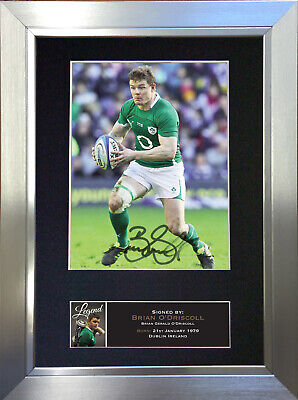 BRIAN O'DRISCOLL Signed Autograph Mounted Photo Repro A4 Print 572