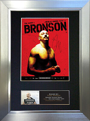 BRONSON TOM HARDY Signed Autograph Mounted Reproduction Photo A4 Print 374