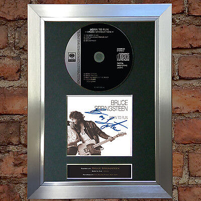 BRUCE SPRINGSTEEN Born to Run Signed Autograph CD & Cover Mounted Re-Print A4 42