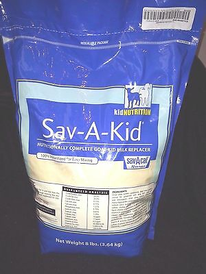 Sav-A-Kid - Complete Milk Replacer for Goats- 8 lbs