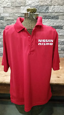 Nissan Nismo Polo Shirt 5.11 Tactical Series Red Pull Over Men's L EUC