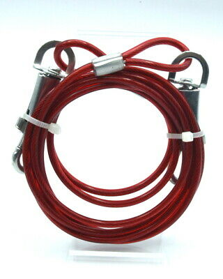 """RED """"Tie Out Cable"""" 6 feet long cable-Dog/Puppy/Cat/Kitten/Rabbit/Gift/Walk/Run!"""