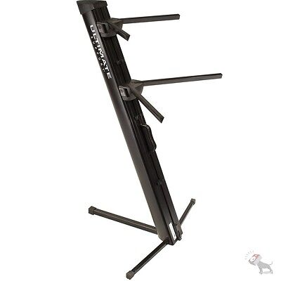 Ultimate Support Apex Series AX-48 Pro Column Tribar Arms Keyboard Stand Black