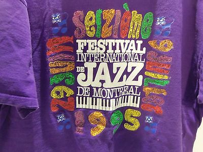 Vintage 1995 Montreal Jazz Festival T-Shirt (Xl) Rare Made In Canada