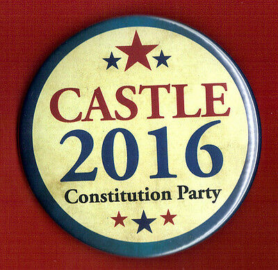 "2016 Darrell Castle(Constitution Party) 3"" Official Presidential Campaign Button"
