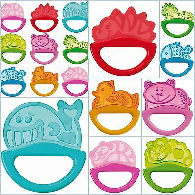 Baby Teether with Rattle, Soft Bite Teether, Teething Soothing Toy 0m+ BPA free