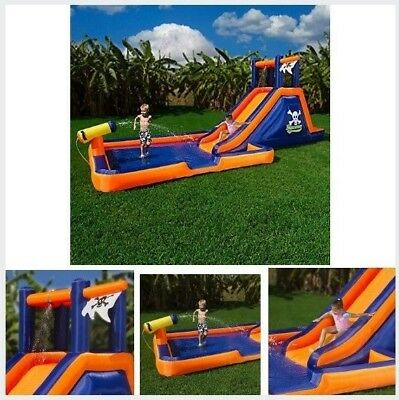 Inflatable Water Slide Play Center Bouncer House Kids Garden Fun Pool Slider NEW