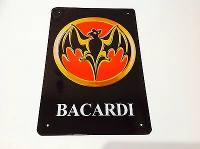BACARDI BAT RUM METAL  Poster Bar Pub Tavern Wall Decor Vintage Sign Tin Plaque