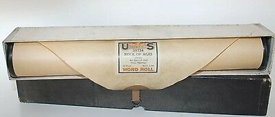 Vintage Piano Roll Rock Of Ages 39724 U.S. Player Music Rolls 12 Feet World Roll