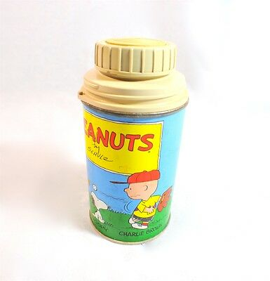 Vintage 50's Peanuts Thermos for Metal Lunch Box