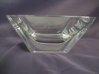 Kosta Boda Sparkling Crystal Square Bowl (engraved S. Persson)