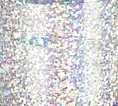 """3/16"""" Holographic SILVER Curling Ribbon 250 YDS 750 FT Spool Balloons Party Wedd"""