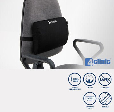 Lumbar Support Anatomic Cushion While Sitting In A Car Or Office Black