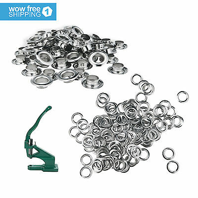 "1000 Metal Washers+ 1000 Metal Grommets-Nickel Finish - #2 Size, 3/8"" Eyelets"