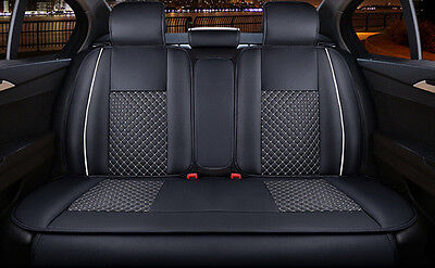 5pcs PU Leather Needlework Car Seat Covers Rear Cushion Cover for 5 seat car