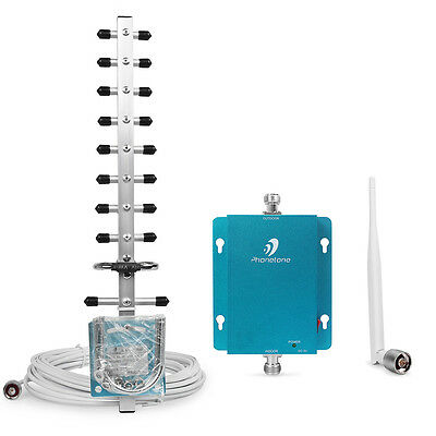 2100MHz Mobile Phones Signal Booster Repeater 3G WCDMA Amplifier + Yagi Antenna