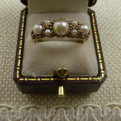 Stunning Antique Victorian Pearl Ring