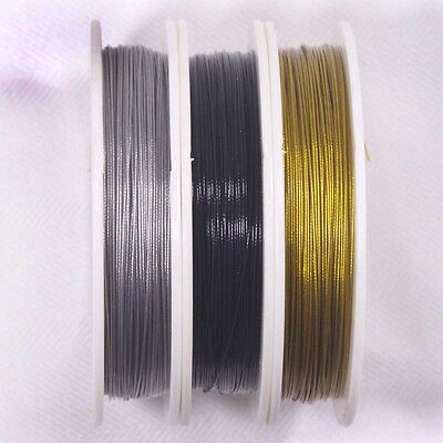 50mt ROLL BEADING WIRE, TIGER TAIL .5MM 7 STRAND NYLON COATED STAINLESS STEEL