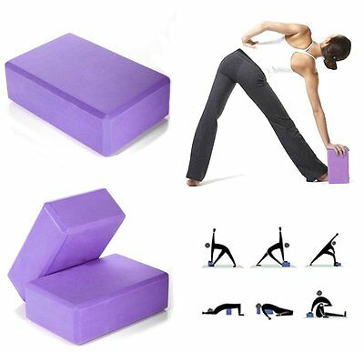 Yoga Block Brick Foaming Foam Home Exercise Practice Fitness Sport Tool New