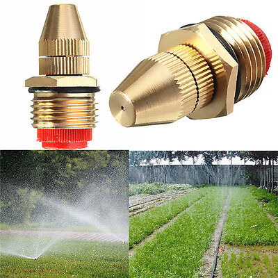 "1/2"" Adjustable Water Flow Brass Spray Misting Nozzles Garden Spray Head"