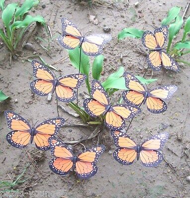 14 Pcs Monarch Butterfly Garden Stake Sign Plant Yard Stake Decor Lawn  Ornaments