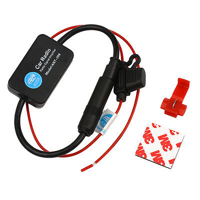 Universal Antenna Signal Amplifier Car Auto Booster Stereo Radio FM (88-108MHz)