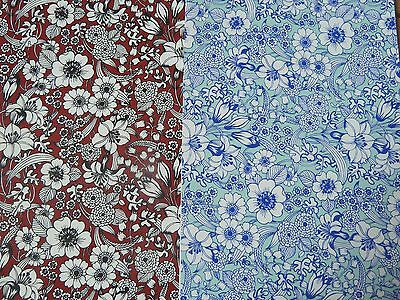 Ceramic Decal Decals Red or Blue Valencia Pattern Chintz 23x15cm