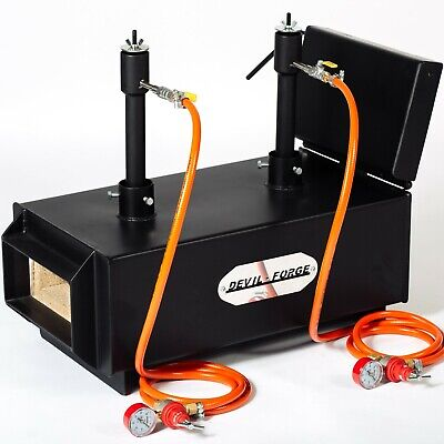 DFPROFLT Gas Propane Forge for Knifemaking Farriers Blacksmiths Furnace Burner