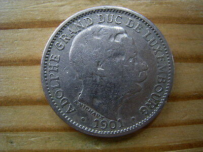 1901  Luxembourg 10 Centimes Coin Collectable