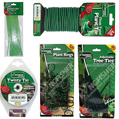 Plant supports - assorted choice of plant rings and / or ties from kingfisher